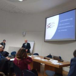"""L'Ing. Stefano Antonelli, Presidente IICBIM, espone il suo discorso durante il seminario """"Le opportunità offerte dal BIM e le figure professionali della norma UNI 11337"""""""