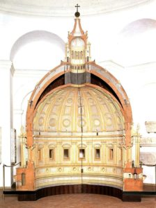 Modello in scala della cupola di San Pietro realizzata da Michelangelo Buonarroti