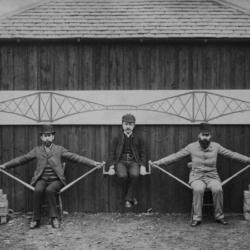 Prototipo vivente in scala per la realizzazione del ponte sul Forth, a Edimburgo, Scozia