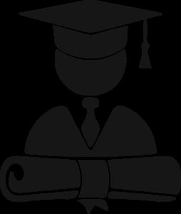 icona stilizzata di un diplomato con certificazione professionale