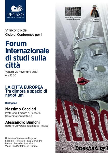 brochure evento forum internazionale di studi sulla città