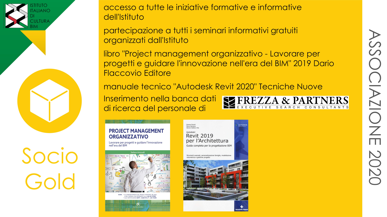 poster sulla Campagna Associativa IICBIM 2020 per socio gold