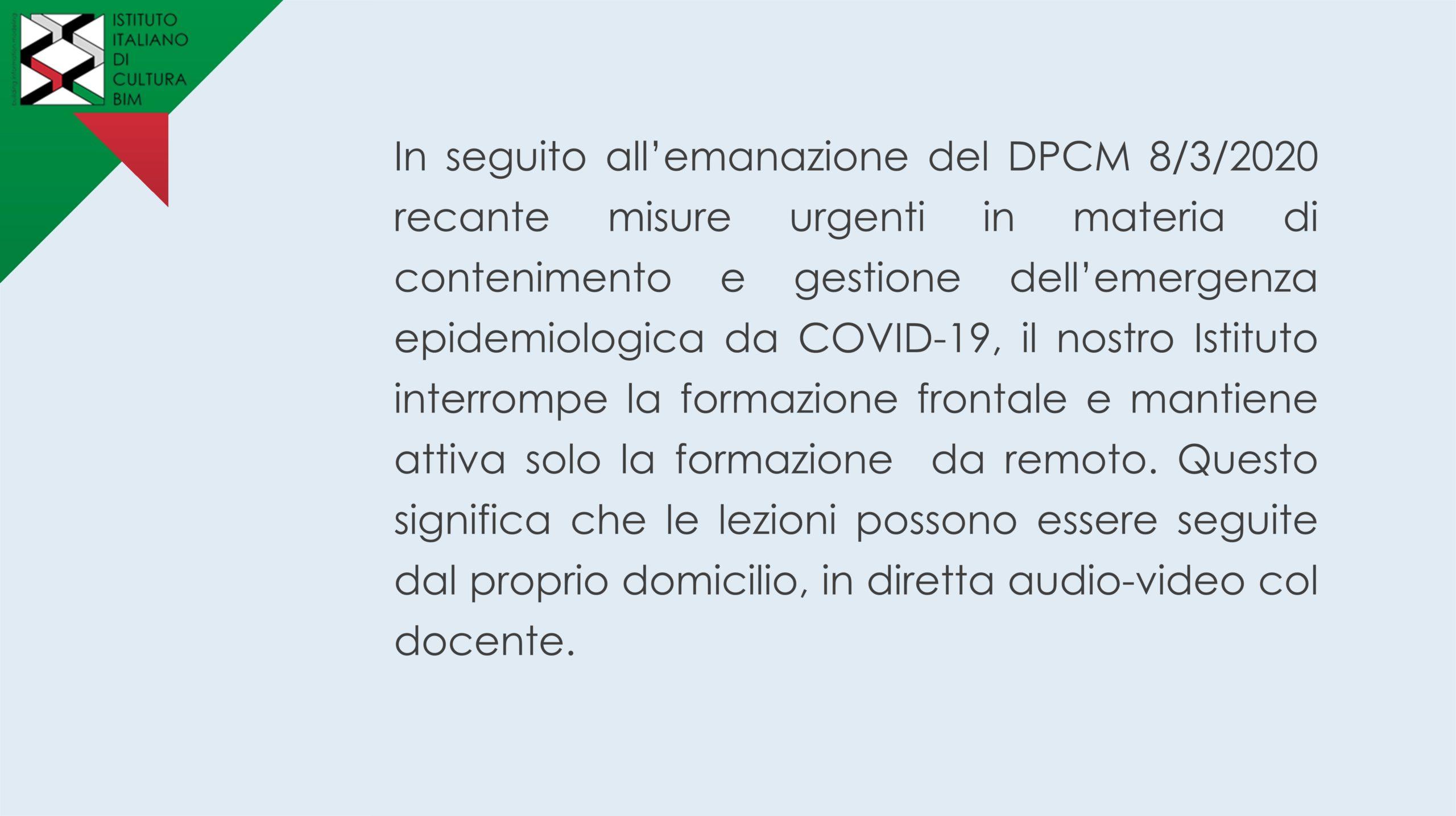 poster sulle disposizioni da DPCM sulle misure da COVID-19
