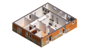 Modellazione BIM della villetta ristrutturata da Lorenzo Pede