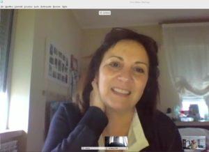 architetto Stefania Lastoria in diretta in aula virtuale durante il corso di Project Management ISIPM-base