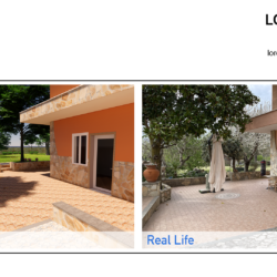 viste a confronto: la modellazione vs foto reale di una villetta