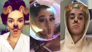 esempio di realtà aumentata nel filtro di Instagram con orecchie e lingua da cane